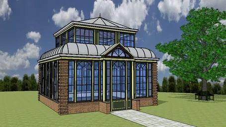 Classic Dutch tea pavilion